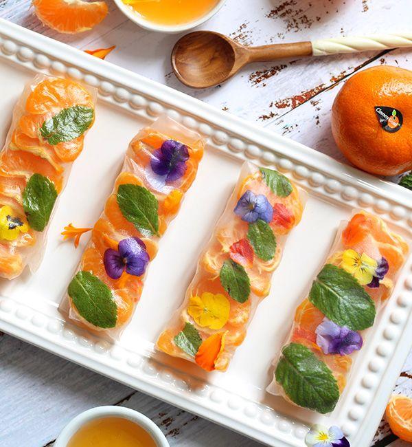 Fresh ClemenGold<sup>®</sup> Mandarin, Honey & Mint Wraps