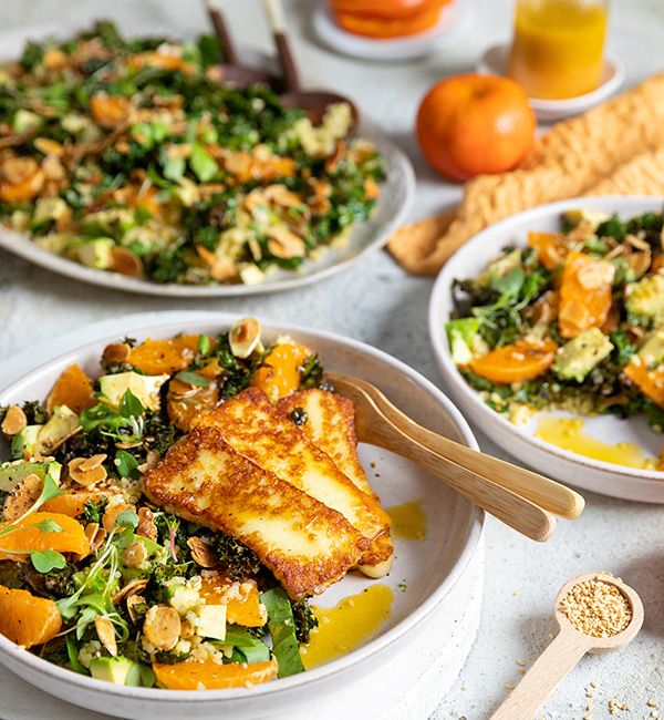 Bulgur Wheat, Kale & Halloumi Salad with ClemenGold<sup>®</sup> Dressing