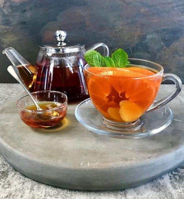 Fresh Ginger Mint & Citrus Tea
