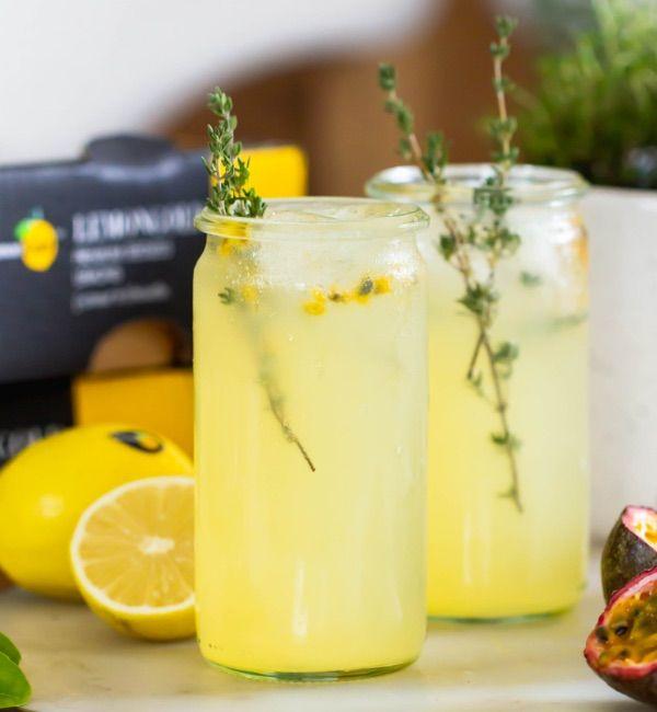 Sparkling Lemon & Passion Fruit Mocktails