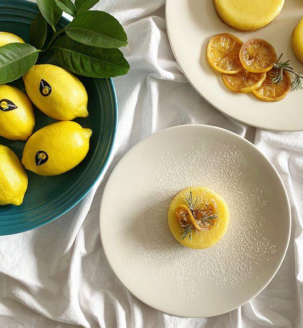 Warm Lemon & Rosemary Pudding Cakes